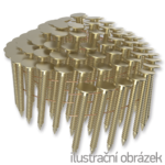 Gwoździe papowe łączone drutem 3,05 x 19 mm,  pierścieniowe, ocynkowane