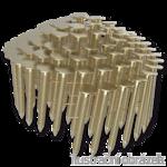 Gwoździe papowe łączone drutem 3,05 x 32 mm,  pierścieniowe, ocynk zolty