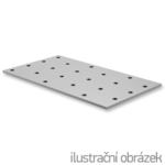 Lacznik plaski perforowany 120x160x2,0