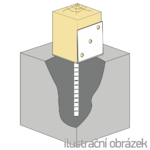 Lacznik belki do betonu Typ L 120x120x4,0