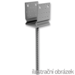 Lacznik Belki do betonu przetlaczany Typ U 120x120x4,0