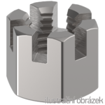 Matice korunková M8 ZB DIN 935, 6