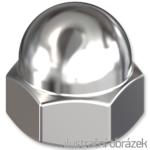 Nakrętki kołpakowe DIN 1587 M5, kl.6, ocynk galwaniczny