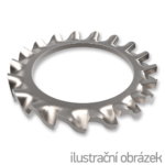 Podkładka ząbkowana DIN 6798A, M10, ocynk