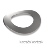 Podkładka falista DIN 137B, M6, ocynk