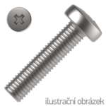 Wkręt z łbem walcowym wypukłym na krzyżak DIN 7985 4.8, M8x12mm, ocynk galwaniczny