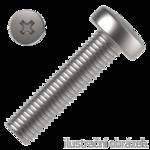 Wkręt z łbem walcowym wypukłym na krzyżak DIN 7985 4.8, M3x6mm, ocynk galwaniczny
