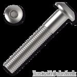 Śruby z łbem kulistym ISO 7380 kl. 10.9 M10x45mm, z gniazdem sześciokątnym, ocynk galwaniczny
