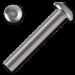 Śruby z łbem kulistym ISO 7380 kl. 10.9 M8x45mm, z gniazdem sześciokątnym, ocynk galwaniczny