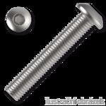 Śruby z łbem kulistym ISO 7380 kl. 10.9 M4x8mm, z gniazdem sześciokątnym, ocynk galwaniczny