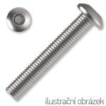 Śruby z łbem kulistym ISO 7380 kl. 10.9 M4x10mm, z gniazdem sześciokątnym, ocynk galwaniczny