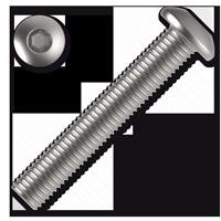 Śruby z łbem kulistym ISO 7380 kl. 10.9 z gniazdem sześcioką