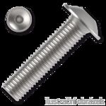 Śruby z łbem kulistym podkładkowym ISO 7380-2 kl. 10.9 M4x8mm, z gniazdem sześciokątnym, ocynk galwaniczny