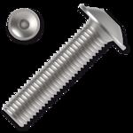 Śruby z łbem kulistym podkładkowym ISO 7380-2 kl. 10.9 M8x50mm, z gniazdem sześciokątnym, ocynk galwaniczny