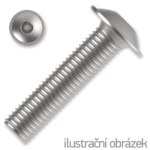 Śruby z łbem kulistym podkładkowym ISO 7380-2 kl. 10.9 M5x20mm, z gniazdem sześciokątnym, ocynk galwaniczny
