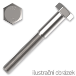 Śruba z łbem sześciokątnym DIN931 M8x130, kl.8.8, ocynk galwaniczny