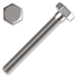 Śruba z łbem sześciokątnym DIN931 M6x60, kl.8.8, ocynk galwaniczny