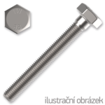 Śruba z łbem sześciokątnym DIN933 M4x20, kl.8.8, ocynk galwaniczny