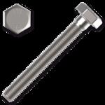 Śruba z łbem sześciokątnym DIN931 M6x55, kl.8.8, ocynk galwaniczny