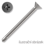 Šroub samovrtný TEX 4,8x60 ZB zápust.hlava DIN7504P