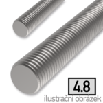 Pręt gwintowany DIN975 M12x2000, kl.4.8, ocynk galwaniczny