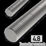 Pręt gwintowany DIN976 M24x1000, kl.4.8, ocynk galwaniczny