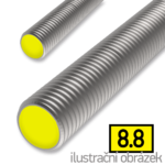 Pręt gwintowany DIN975 M16x1000, kl.8.8, ocynk galwaniczny