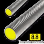 Pręt gwintowany DIN976 M30x1000, kl.8.8, ocynk galwaniczny