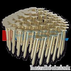 Gwoździe papowe łączone drutem 3,05 x 25 mm,  gladkie, ocynkowane