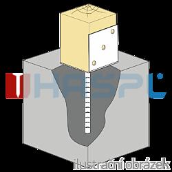 Lacznik belki do betonu Typ L 80x80x4,0 - 1