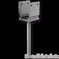 Lacznik belki do betonu przetlaczany Typ U 120x100x4,0 - 1/3