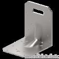 Katownik 90° Typ 4 przetlaczany wzmocniony 90x105x105x3,0 rowek - 1/3