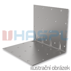 Katownik 90° Typ 4 przetlaczany wzmocniony 80x70x70x1,5 - 1