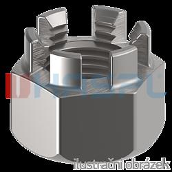 Nakrętka koronowa DIN 935 kl. 6, M14, ocynk