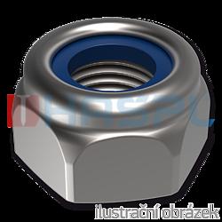 Nakretka samokatrujaca DIN 985 M24, kl.6, ocynk galwaniczny