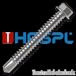 Wkręty samowiercące 3,9x9,5mm, z łbem sześciokątnym DIN 7504K, ocynk biały