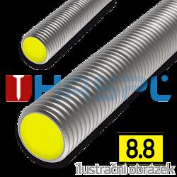 Pręt gwintowany DIN976 M24x1000, kl.8.8, ocynk galwaniczny