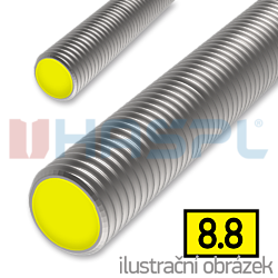 Pręt gwintowany DIN976 M18x1000, kl.8.8, ocynk galwaniczny