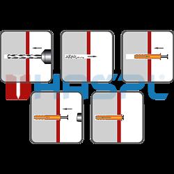 Kolek rozporowy wbijany 6x45, glowa plaska - 2