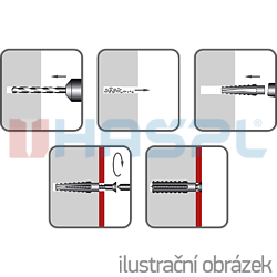 Hmoždinka plechová HP 5x30mm - 2