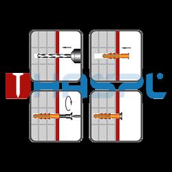 Hmoždinka rámová RMS 10x80mm, nylon+vrut se šestihran.hlavou - 2
