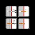 Hmoždinka rámová RMS 10x80mm, nylon+vrut se šestihran.hlavou - 2/2