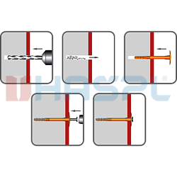 Hmoždinka talířová s polyamidovým trnem TTH, 10/60x90mm, polypropylen - 2