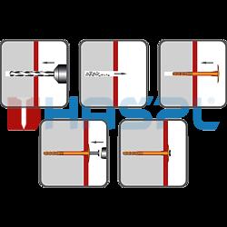 Hmoždinka talířová s polyamidovým trnem TTH, 10/60x170mm, polypropylen - 2