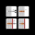 Kołek z kolnierzem UHL 10x61mm - 2/2