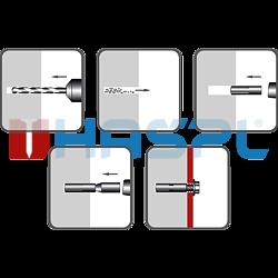 Kotva narážecí ocelová KNO 10x30, M8 ZB - 2