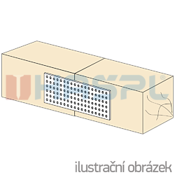 Plytka perforowana 100x240x2,0 - 2