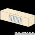 Lacznik plaski perforowany 60x120x2,0 - 2/3