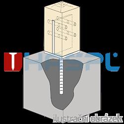 Lacznik belki do betonu Typ U 70x70x4,0 - 2
