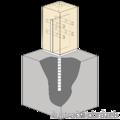 Lacznik belki do betonu Typ U 70x70x4,0 - 2/3